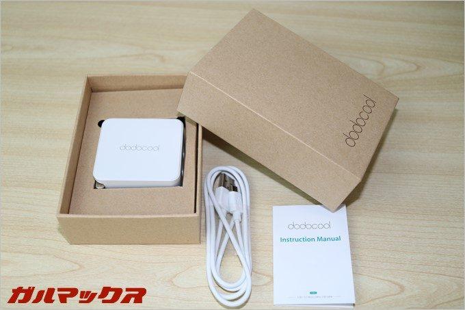 dodocoolのQuickChage3.0対応急速充電器の製品写真
