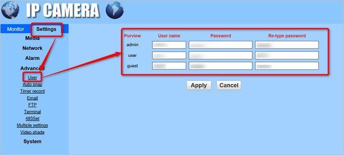 セキュリティー向上のため、IDとパスワードは変更しておきましょう