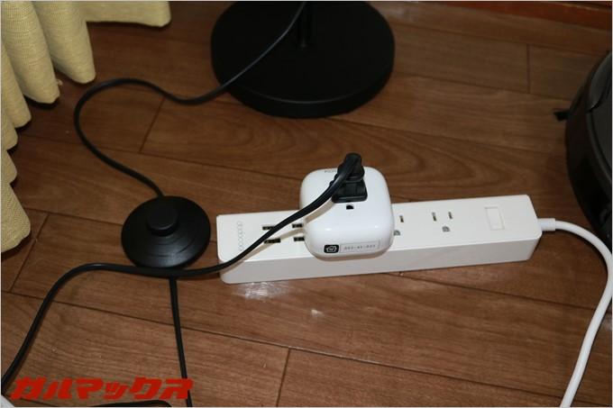 照明のプラグをSMART PLUG P1に挿して準備完了