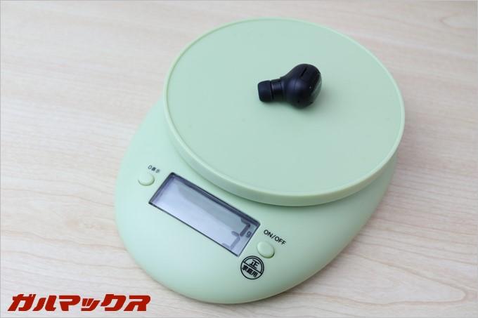 SoundPEATSのD3はたったの3gしか重量がありません。