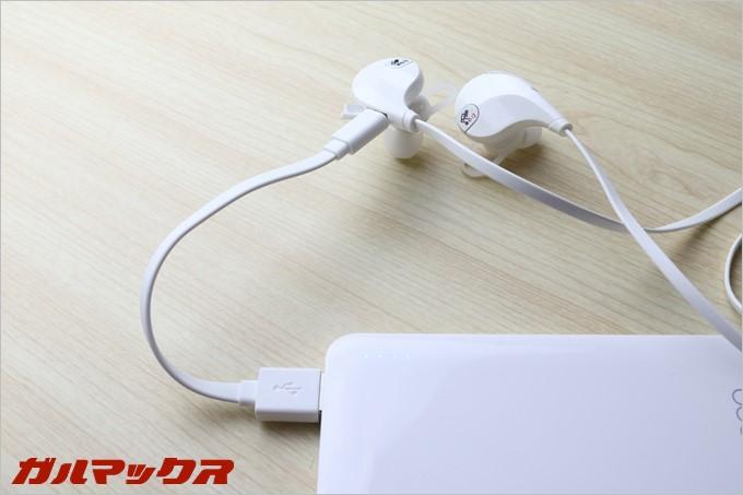 USB経由の充電なのでパソコンでも充電可能です
