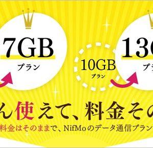 7GBが業界最安値!NifMoが価格据え置きで容量増加