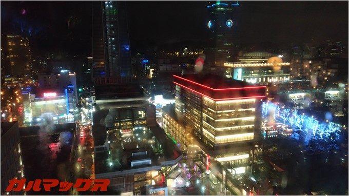 ハンブルハウス台北からの夜景は絶景