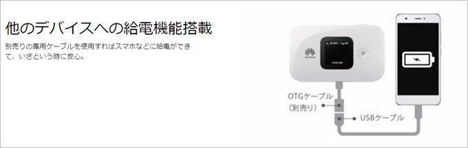 HUAWEI Mobile WiFi E5577はモバイルルーターとして利用可能