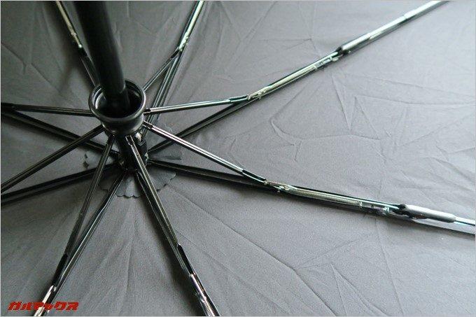 Tquens H100 Umbrellaは剛性の高い8本骨仕様。