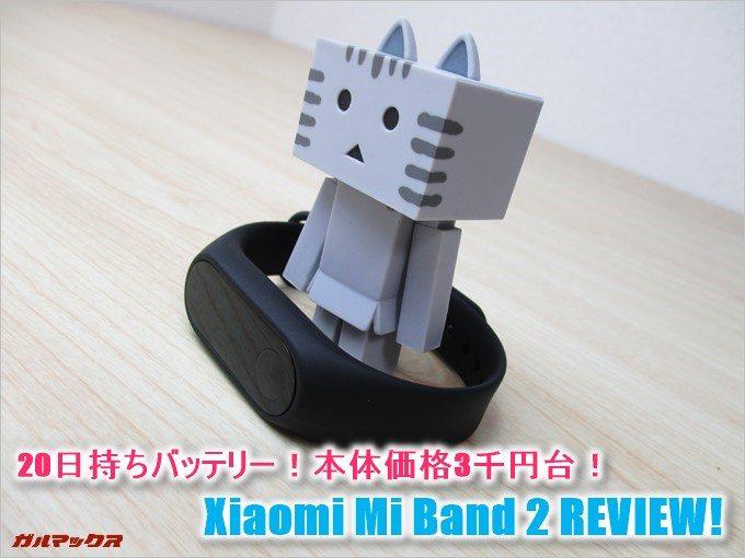 Xiaomi Mi Band 2の実機レビュー。