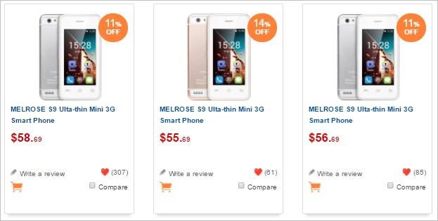 MELROSE S9の価格