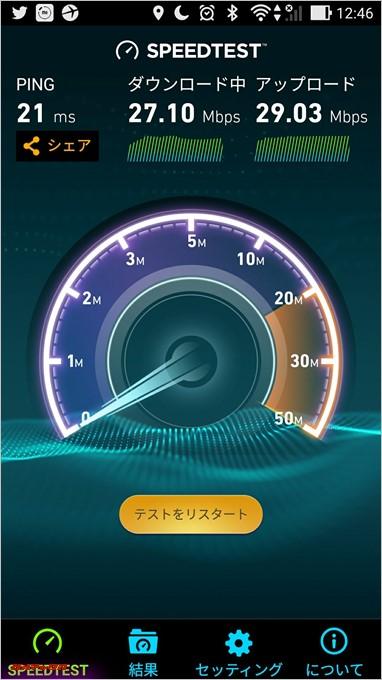イモトのWiFiが本気を出したようです。通信速度は25Mbpsを突破。
