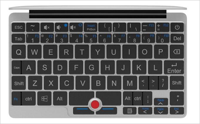 小型ながらキーボードに加えマウスポイントが備わっているGPD Pocket