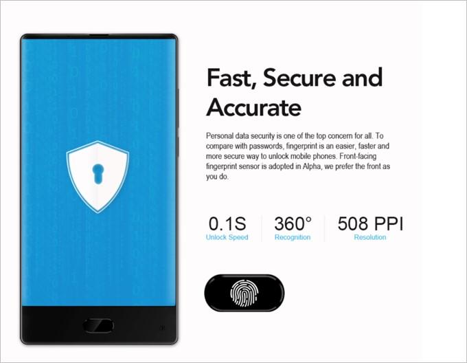 MAZE Alphaは0.1秒でロック解除が可能な指紋センサーユニットを搭載