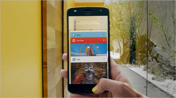 Moto Z2 Playの指紋センサーはスマートフォンの操作に利用可能