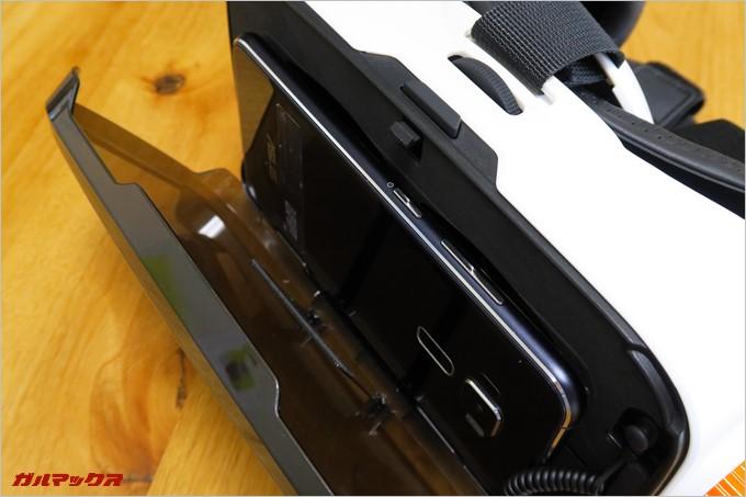 スマートフォンの固定はボタン類が干渉しない作りなので安心して購入可能