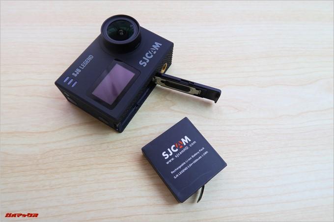 SJCAM SJ6 LEGENDのバッテリー