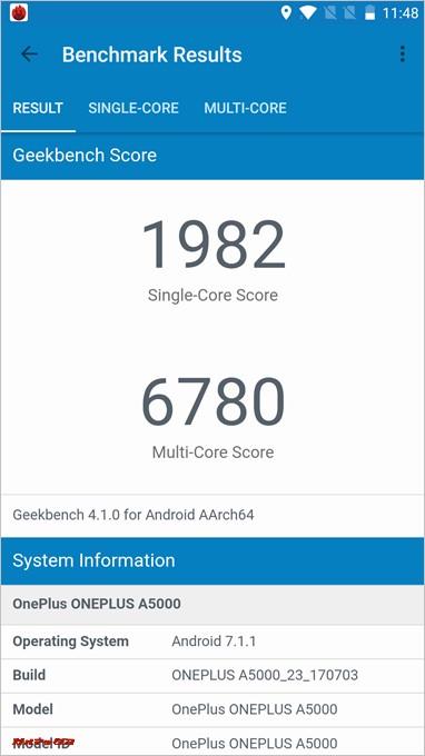 GeekBench4もシングルが1982、マルチが6780で高スコアだった