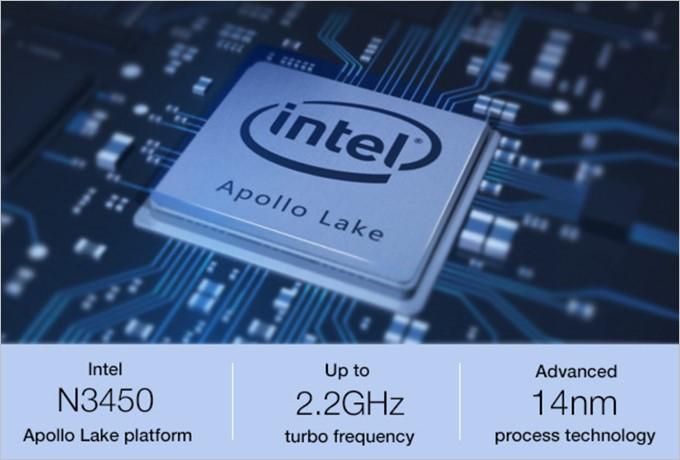 新型のIntel Apollo LakeであるCeleron N3450を採用