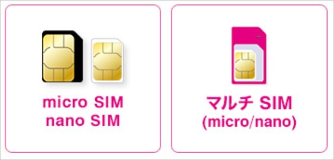 Try UQ mobileでは2タイプのSIMを借りることが出来る