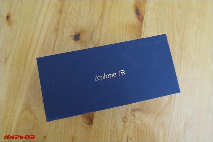ZenFone ARの外箱はマットな素材で高級感が高い