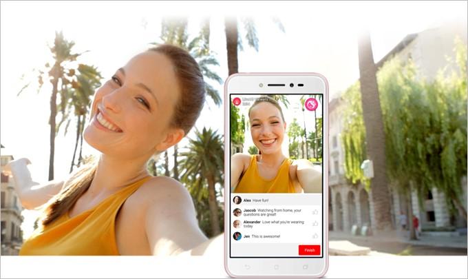 ZenFone Liveはリアルタイムで映像を美しく加工できる美人エフェクトLiveに対応した製品