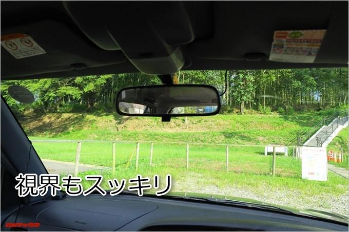 AUTO-VOX D6 PROはバックミラーの裏に隠れて見えないので視界はスッキリクリアです