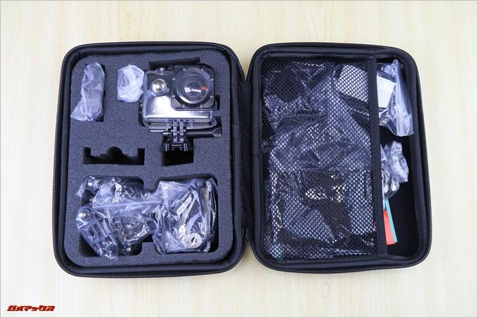 MUSON MC1Aの付属バッグには本体の他に様々なアタッチメントが付属しています。