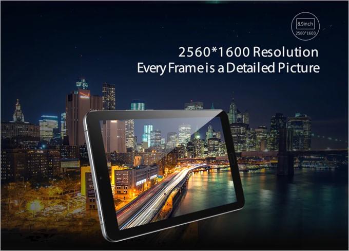 ALLDOCUBE Freer X9は2560×1600の高解像度のパネルを搭載しています