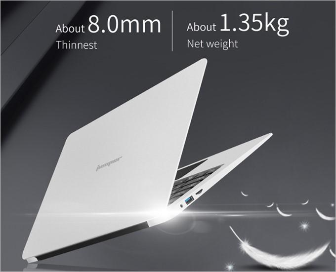 Jumper EZbook 3SEは13.3型クラスで重量は1300gとなかなかの軽量です