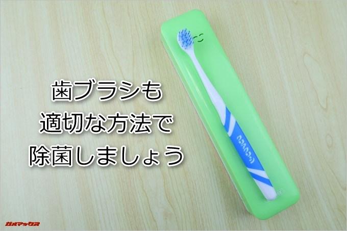 歯ブラシも適切な方法で除菌しましょう
