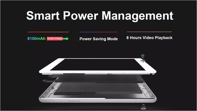 Teclast Master T10には超大容量な8100mAhのバッテリーが搭載されています