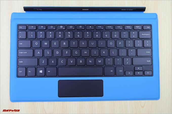 Teclast Tbook 16 Powerの専用キーボードは英語配列です