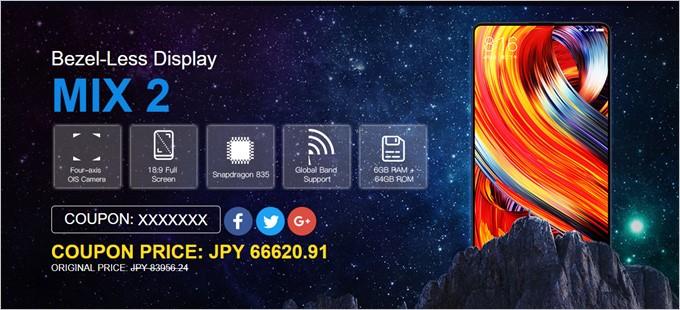 Xiaomi Mi Mix 2はGeekbuyingで発売記念キャンペーンを開催中です