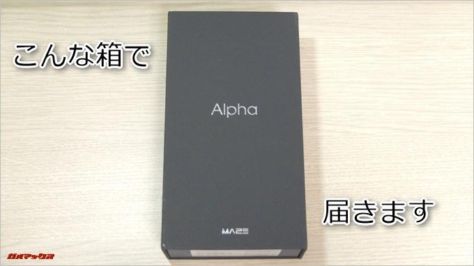 MAZE Alphaの外箱はシンプルながら非常に上質な箱でした