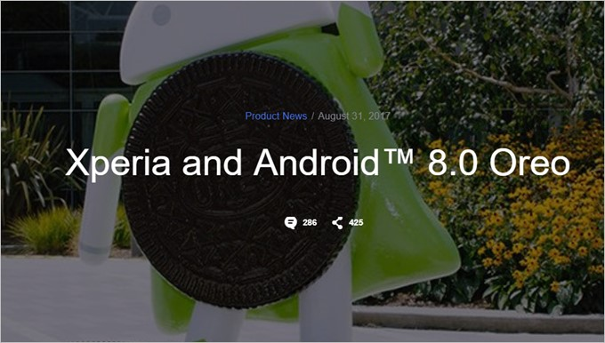 Xperia X Dual(F5122)はAndroid 8.0にアップデート予定です
