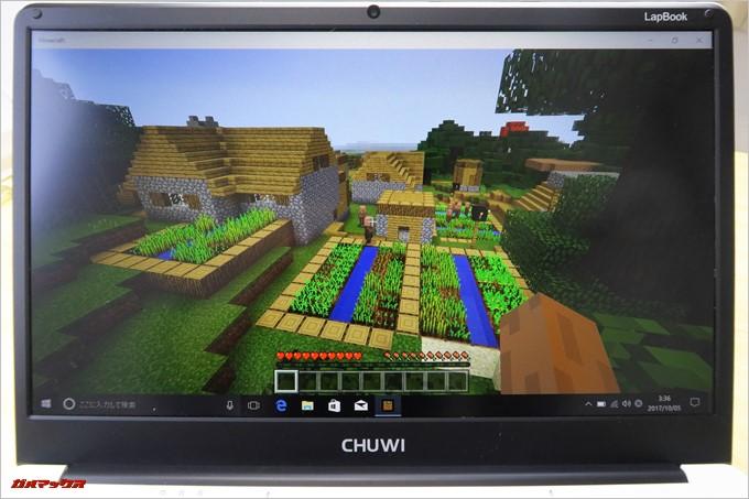 CHUWI LapBookはMinecraftのWIN10Editionで遊べます
