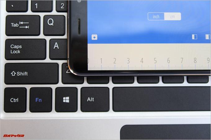 Jumper EZbook 3SEのキーボードサイズは16mm