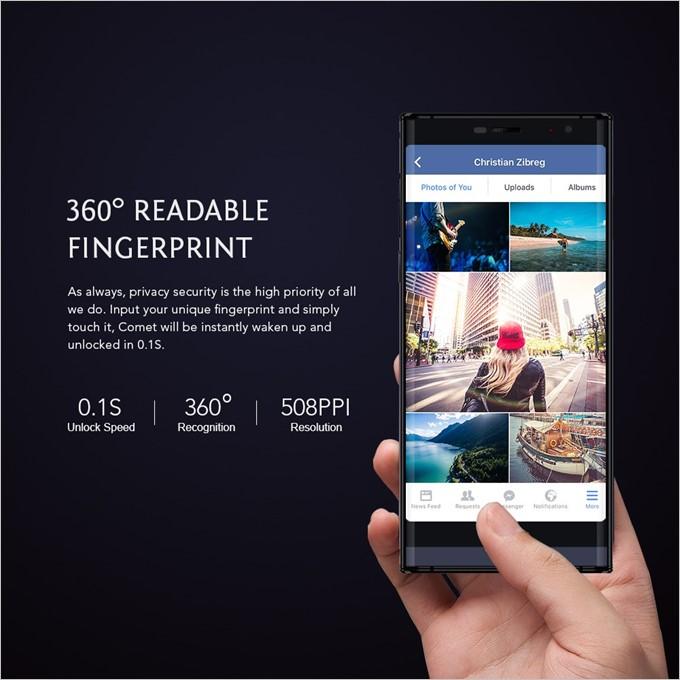 MAZE COMETの指紋認証は0.1秒で認識するだけでなく、360°どの角度でも認識してくれます
