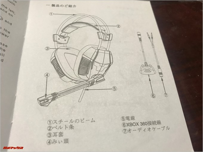 SADES SA-921の取扱説明書は日本語も記載されている