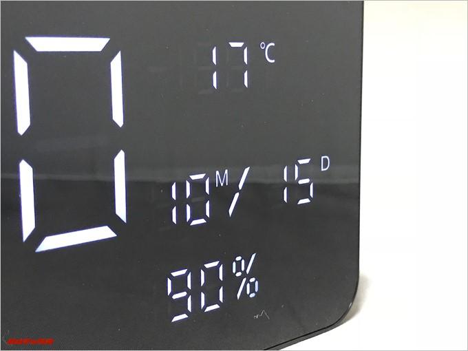 SARDiNE A10は湿度などもチェックできるので風呂場での利用もおすすめです