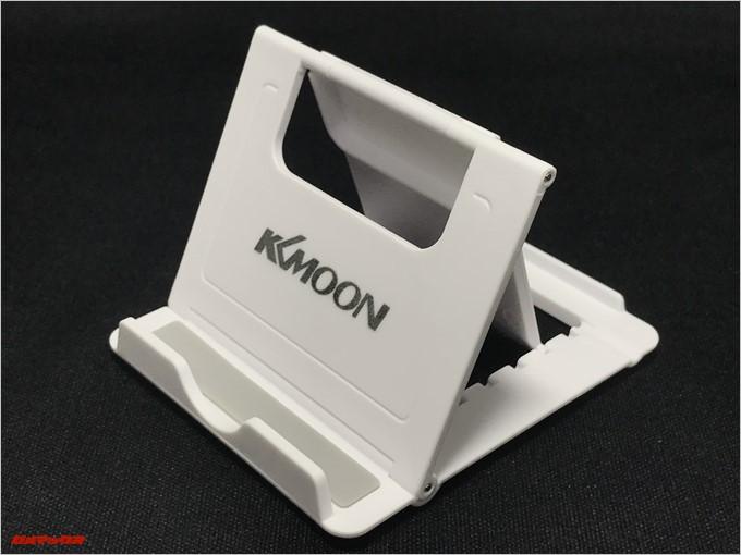 LEAGOO KIICAA POWERにはKKmoonの折りたたみ式スマホスタンドまで付属します