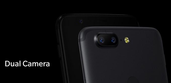 OnePlus 5TのダブルレンズカメラはF値1.7でメインカメラと同等レンズ。光学ズームレンズはなくなった
