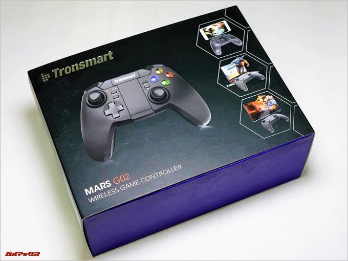 Tronsmart Mars G02の外箱はゲーミングらしいエキサイティングなパッケージで期待が高まります