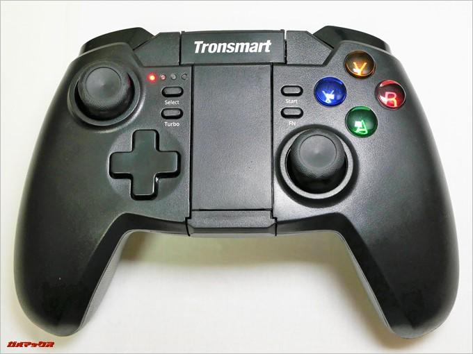 Tronsmart Mars G02のXYABボタンは電源をいれることでXboxと同様の4色カラーに光ります。