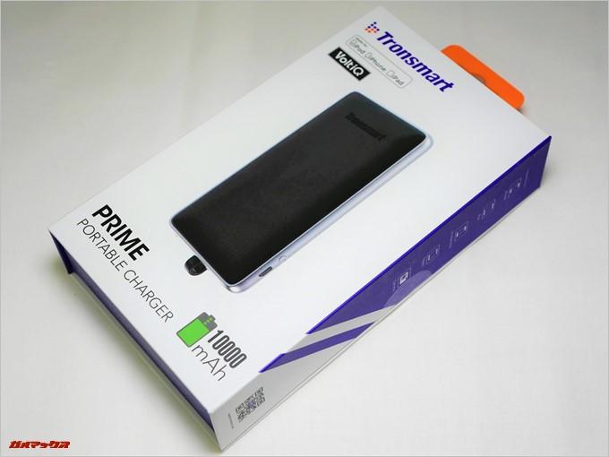 Tronsmart Prime 10000はトレンドカラーのホワイト・紫・オレンジのパッケージに入って届きました