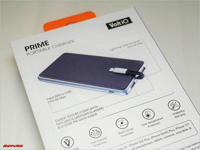 Tronsmart Prime 10000の外箱背面には図入りで取り扱い方が記載されているので分かりやすい