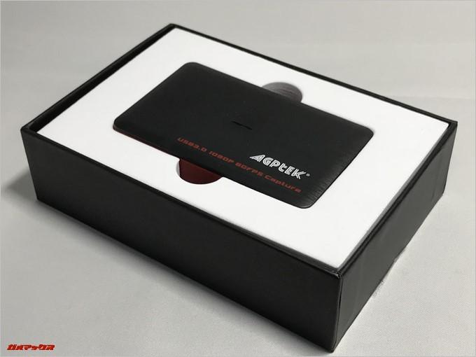 AGPtEK HDMIゲームキャプチャーはしっかりした梱包で輸送時の破損からも守ってくれます。