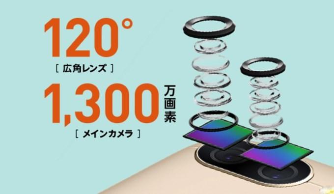 ZenFone 4 Maxは120度の超広角撮影に対応