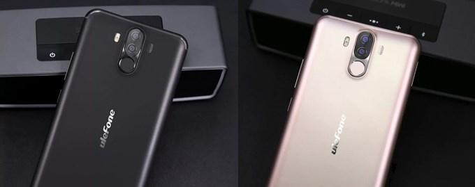 Ulefone Power 3はブラックとゴールドのカラーを選択可能です。