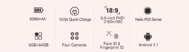 Ulefone Power 3のスペック