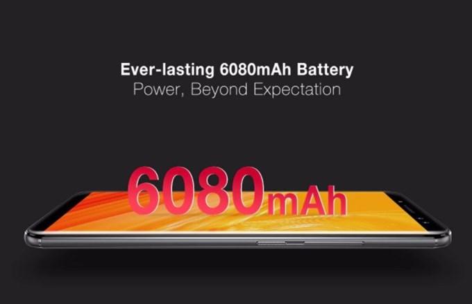 Ulefone Power 3は6080mAhのバッテリーを搭載