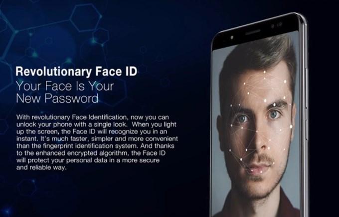 Ulefone Power 3は顔認証が利用できます。認証にはインカメラを利用します。
