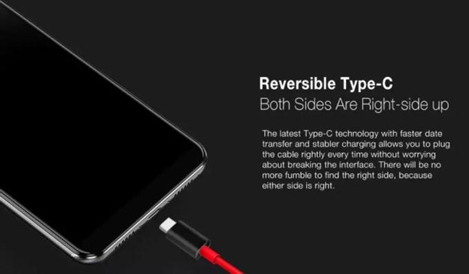 Ulefone Power 3は裏表関係なく挿し込める便利なUSB-Cを搭載しています。